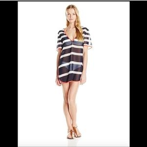 NWT! $149 Ted Baker Striped Tunic Swim Cover-Up